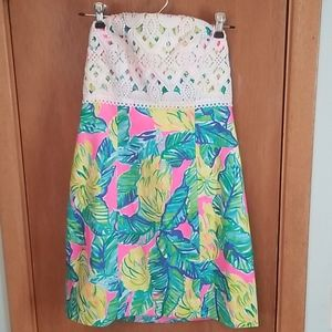 Lilly Pink Sunset Local Flavor Brynn Dress NWT 4